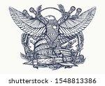 symbol of roman empire. ... | Shutterstock .eps vector #1548813386