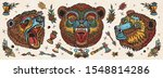 bear head. old school tattoo... | Shutterstock .eps vector #1548814286