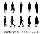 collection people silhouettes... | Shutterstock .eps vector #1548817916