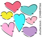 set drawn heart for quotes.... | Shutterstock .eps vector #1548849566