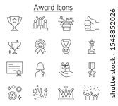 award  reward  trophy icons set ... | Shutterstock .eps vector #1548852026