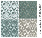 set of seamless patterns with... | Shutterstock .eps vector #154886108