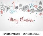 vintage vector hand drawn... | Shutterstock .eps vector #1548863063