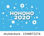 minimalist christmas card with... | Shutterstock .eps vector #1548872276
