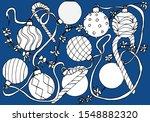 winter background  christmas...   Shutterstock .eps vector #1548882320