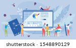 online education and e learning.... | Shutterstock .eps vector #1548890129