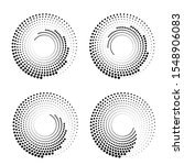 halftone dots in circle form.... | Shutterstock .eps vector #1548906083