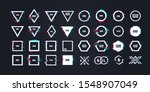geometric shapes with distorted ... | Shutterstock .eps vector #1548907049