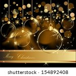 gold merry christmas ... | Shutterstock .eps vector #154892408