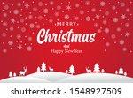 merry christmas lettering... | Shutterstock .eps vector #1548927509