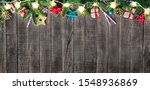 christmas fir tree with... | Shutterstock . vector #1548936869