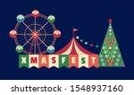 christmas fest flat color...   Shutterstock .eps vector #1548937160