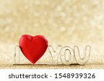 Red Handmade Wooden Heart And...