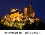 alcazar of segovia  castilla y... | Shutterstock . vector #154895414