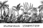 seamless border with jungle... | Shutterstock .eps vector #1548957359