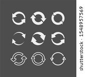 recycling flat vector icons set.... | Shutterstock .eps vector #1548957569