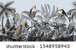 seamless border with jungle... | Shutterstock .eps vector #1548958943