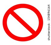 red not allowed sign in white... | Shutterstock . vector #154896164