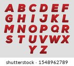 red 3d letters set.english... | Shutterstock .eps vector #1548962789