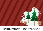 merry christmas  christmas flat ... | Shutterstock .eps vector #1548964820