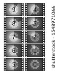 movie countdown frame. vintage... | Shutterstock .eps vector #1548971066