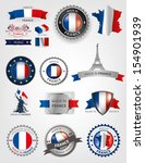 made in france  seals  french... | Shutterstock .eps vector #154901939