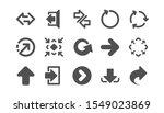 arrow icons. download ... | Shutterstock .eps vector #1549023869