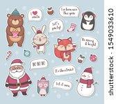 set of cute cartoon characters... | Shutterstock .eps vector #1549033610