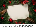 christmas flat lay background... | Shutterstock . vector #1549034006