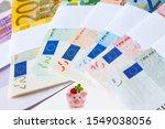 Euro Banknotes With Banderole...