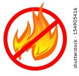 no fire | Shutterstock .eps vector #154905416