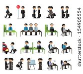 business people set   isolated... | Shutterstock .eps vector #154905554