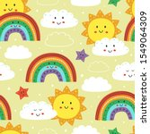 seamless pattern with cute sun  ...   Shutterstock .eps vector #1549064309