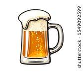 big mug of beer with foam and... | Shutterstock .eps vector #1549092599