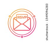 rsvp icon with envelope  vector ... | Shutterstock .eps vector #1549096283