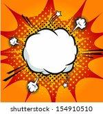 comic book explosion | Shutterstock .eps vector #154910510