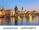 Scenic View Charles Bridge And...