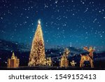 christmas tree and decoration...   Shutterstock . vector #1549152413