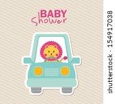 baby shower design over lineal... | Shutterstock .eps vector #154917038