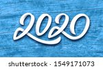 happy new year 2020. paper 3d... | Shutterstock .eps vector #1549171073