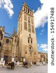 view of the giralda tower... | Shutterstock . vector #154917488