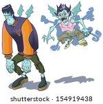 teenage cartoon versions of a... | Shutterstock .eps vector #154919438