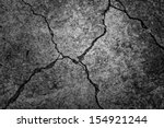 Black And White Cement Cracked...