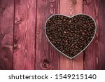 Coffee Beans In Heart Shape Box ...