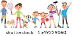 three generation family playing ... | Shutterstock .eps vector #1549229060