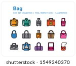 bag icons set. ui pixel perfect ...