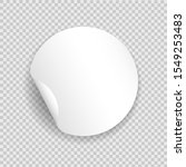 round blank sticker template.... | Shutterstock .eps vector #1549253483