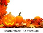 halloween jack o lantern and... | Shutterstock . vector #154926038