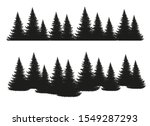 black silhouettes of conifers... | Shutterstock .eps vector #1549287293