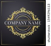 luxury badge logo in gold color ... | Shutterstock .eps vector #1549296113